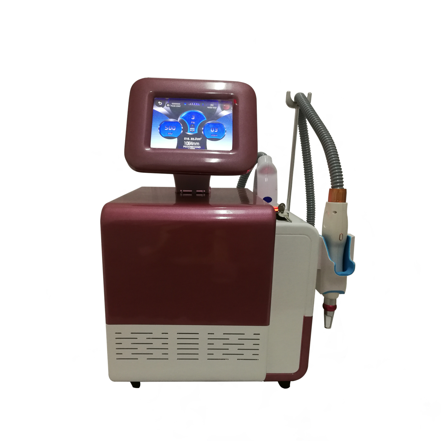 High Power Professional Q Switched ND YAG Laser Tattoo/ Wrinkle/Spot/Freckle Removal Machine