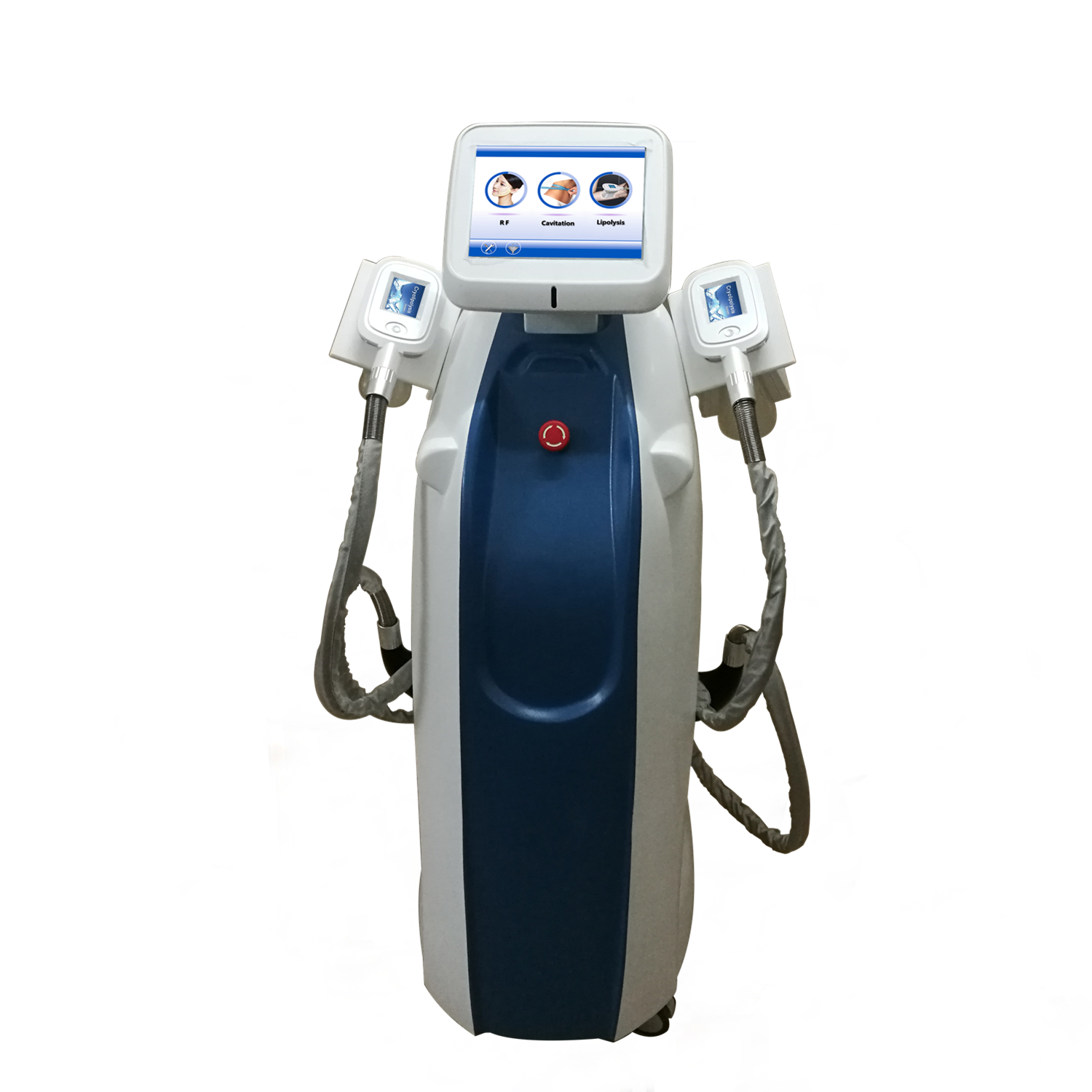 2 Cryolipolysis -Handstück + Multipolar RF + 40K Cavitation Coolplasting Slimming Machine Ce Approved