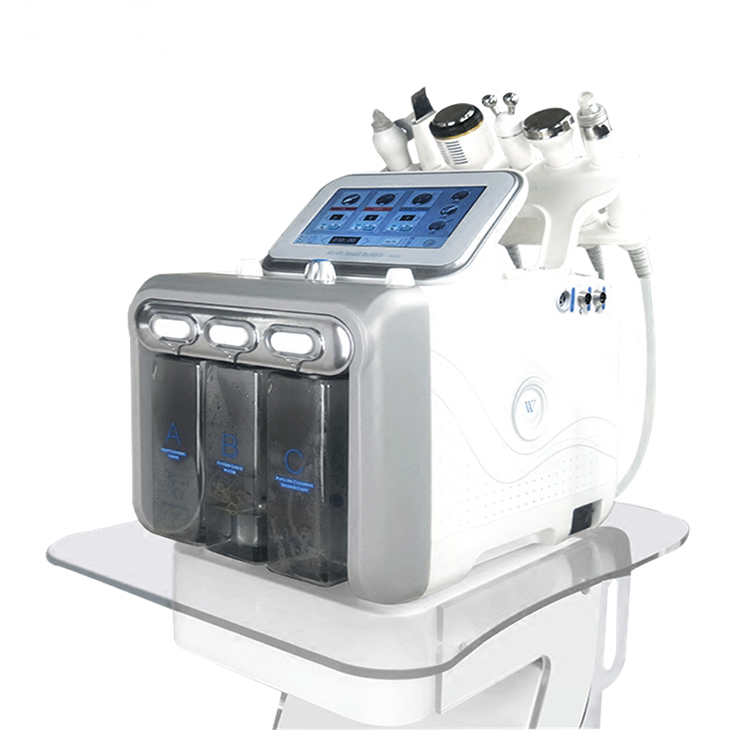 6 professionale in 1 Aqua peeling Hydrogen O2 Face Machine