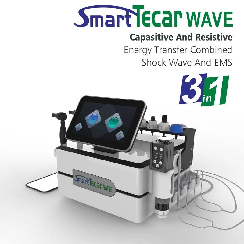 Professional 3 in One EMS Smart Tecar Shockwave Therapy Machine ED Treatment